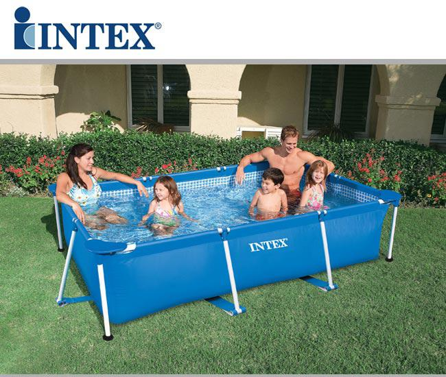 58980 piscina fuori terra intex metal frame 58980